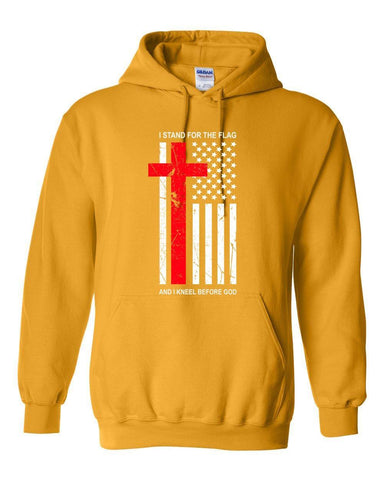 Image of Sweatshirts - Kneel Before God Christian Sweatshirt Hoodie