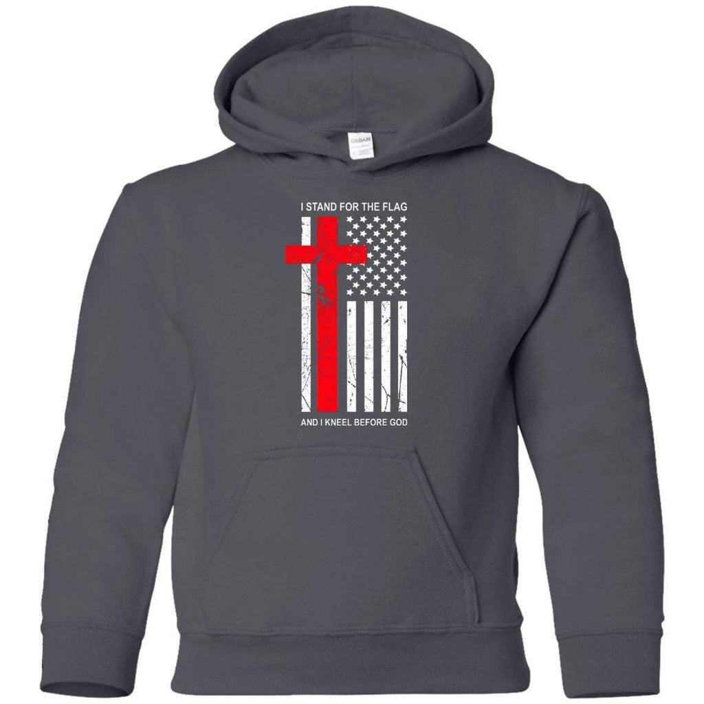 Sweatshirts - Kneel Before God Youth Christian Sweatshirt Hoodie