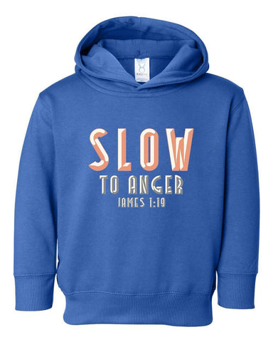 Image of Sweatshirts - Slow To Anger Toddler Christian Sweatshirt Hoodie