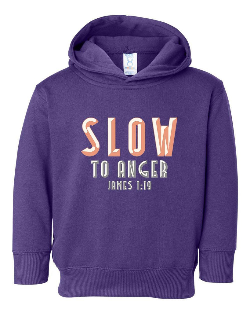 Sweatshirts - Slow To Anger Toddler Christian Sweatshirt Hoodie