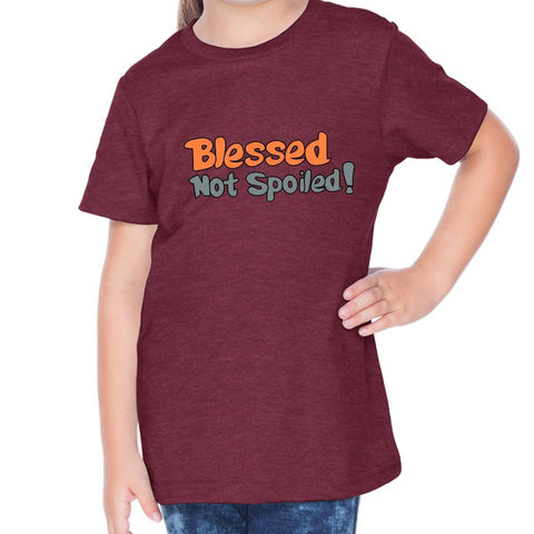 T-Shirts - Blessed Not Spoiled Toddler Christian Short Sleeve T-Shirt