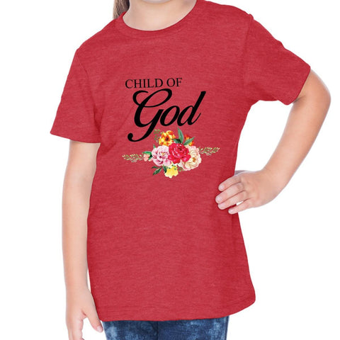 Image of T-Shirts - Child Of God Toddler Christian Short Sleeve T Shirt