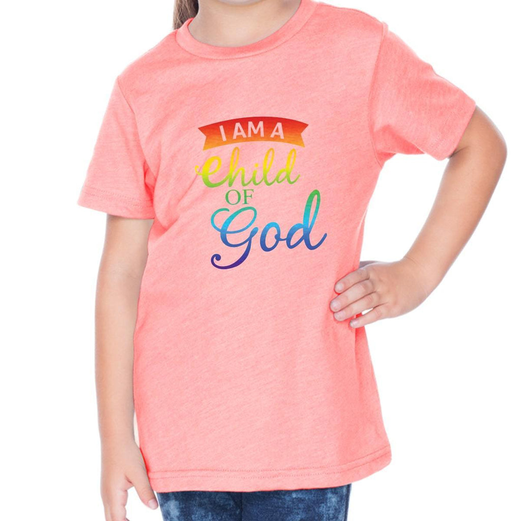 T-Shirts - Child Of God Toddler Christian Short Sleeve T Shirt