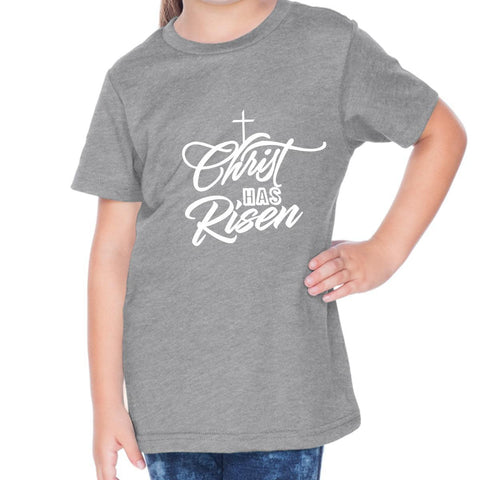 Image of T-Shirts - Christ Has Risen Toddler Christian Short Sleeve T Shirt