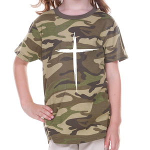 T-Shirts - Cross Camouflage Toddler Christian T Shirt