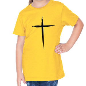 T-Shirts - Cross Toddler Christian Short Sleeve T Shirt