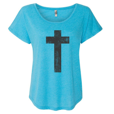 T-Shirts - Cross Women's Christian Dolman T-Shirt