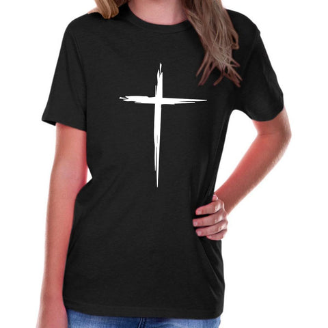 Image of T-Shirts - Cross Youth Jersey Short Sleeve Christian T Shirt