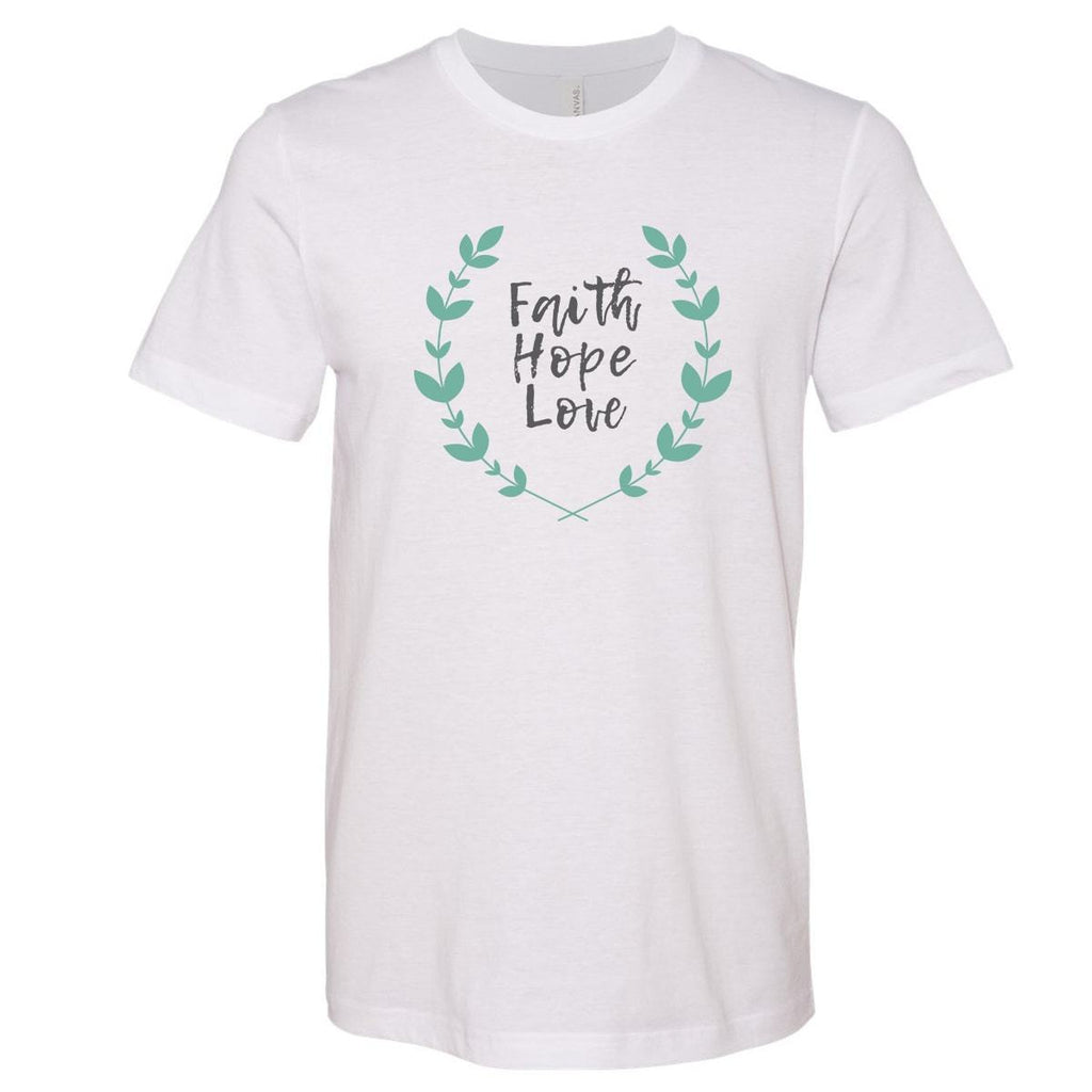 T-Shirts - Faith Hope Love Christian Jersey T-Shirt