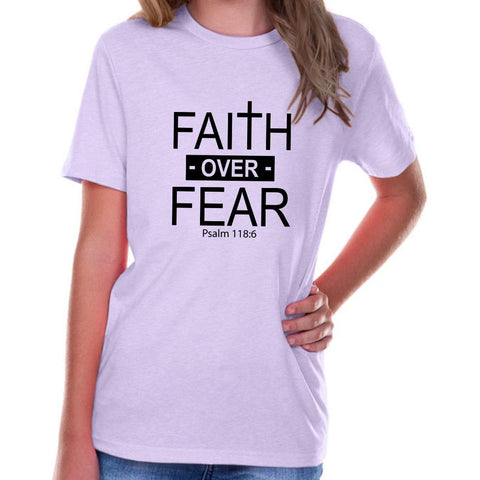 Image of T-Shirts - Faith Over Fear Youth Jersey Short Sleeve Christian T Shirt