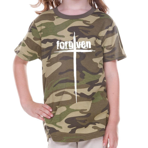 T-Shirts - Forgiven Cross Camouflage Toddler Christian T Shirt