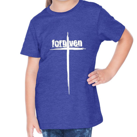 Image of T-Shirts - Forgiven Cross Toddler Christian Short Sleeve T Shirt