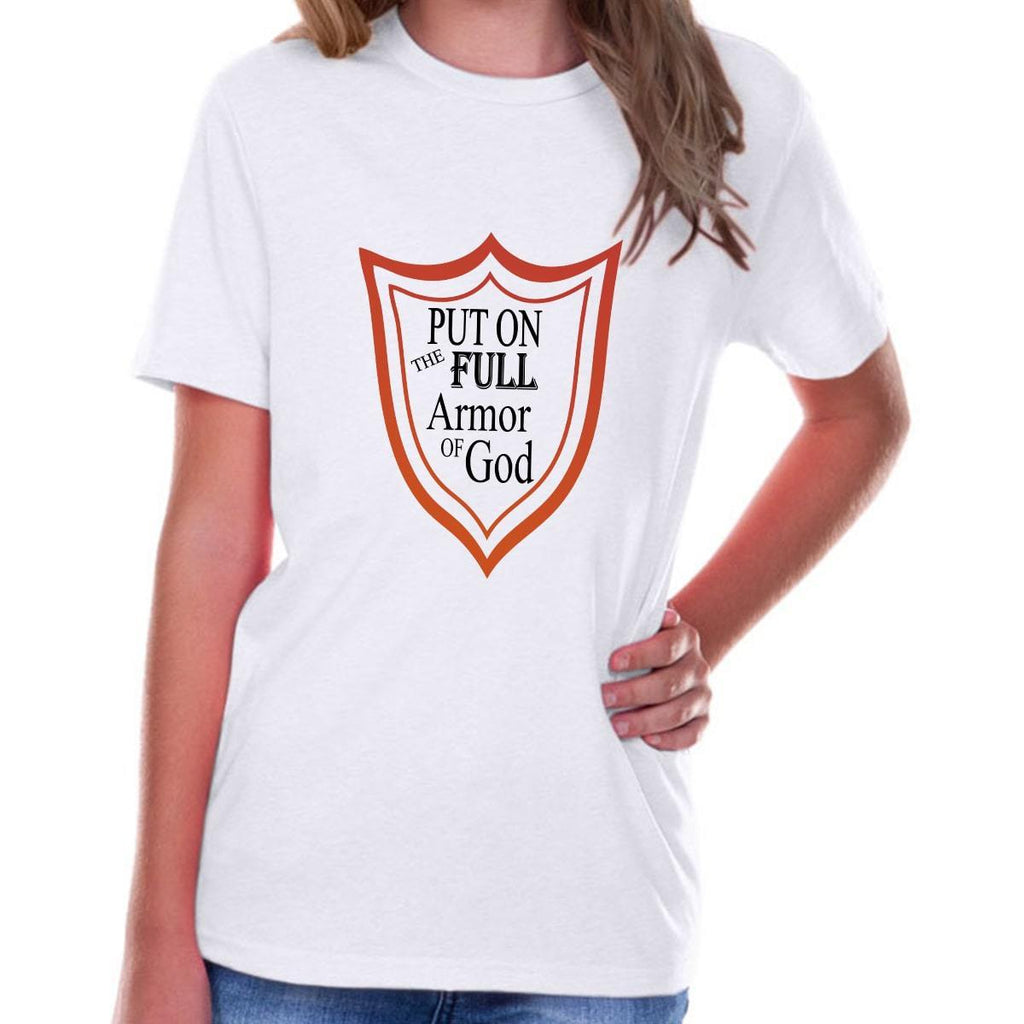 T-Shirts - Full Armor Of God Youth Jersey Short Sleeve Christian T Shirt