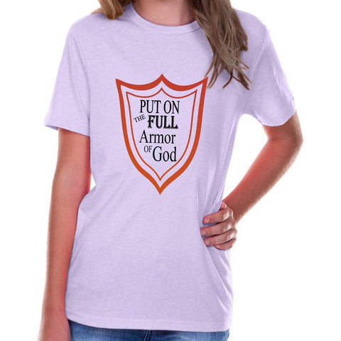 Image of T-Shirts - Full Armor Of God Youth Jersey Short Sleeve Christian T Shirt