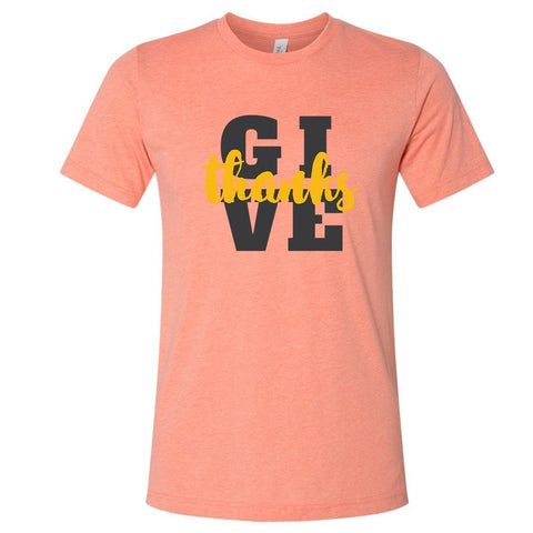 Image of T-Shirts - Give Thanks Christian Jersey T-Shirt