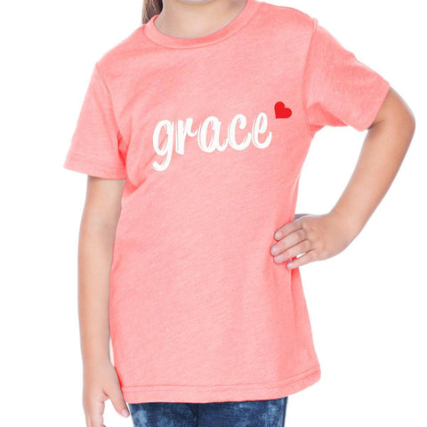 T-Shirts - Grace Toddler Christian Short Sleeve T Shirt