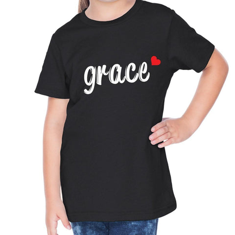 Image of T-Shirts - Grace Toddler Christian Short Sleeve T Shirt