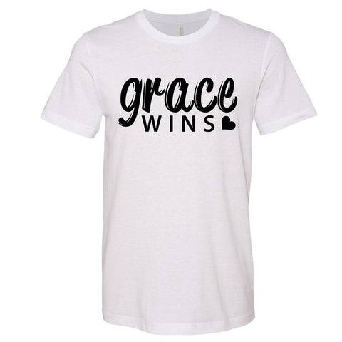 Image of T-Shirts - Grace Wins Christian Jersey T-Shirt