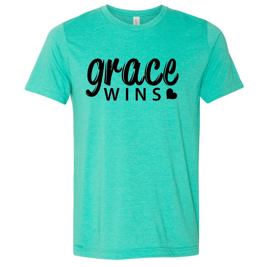 T-Shirts - Grace Wins Christian Jersey T-Shirt