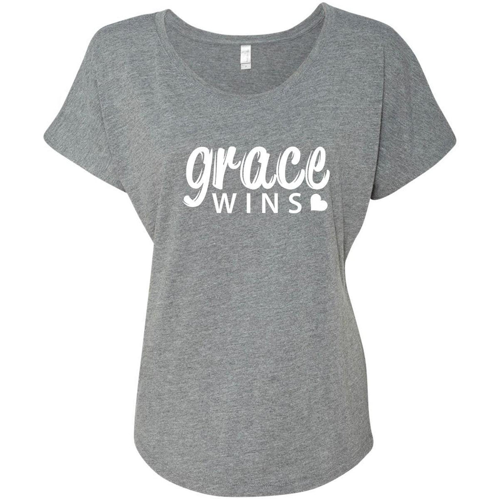 T-Shirts - Grace Wins Women's Christian Dolman T-Shirt