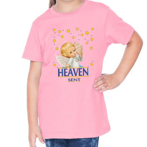 Image of T-Shirts - Heaven Sent Toddler Christian Short Sleeve T Shirt