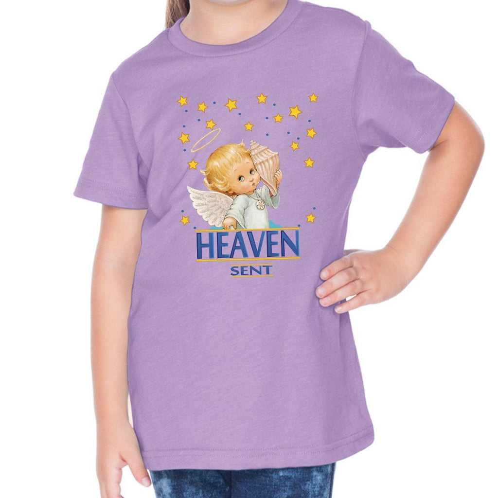 T-Shirts - Heaven Sent Toddler Christian Short Sleeve T Shirt