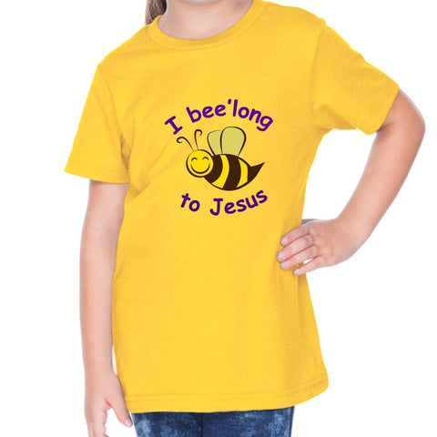 Image of T-Shirts - I Belong To Jesus Toddler Christian Short Sleeve T Shirt