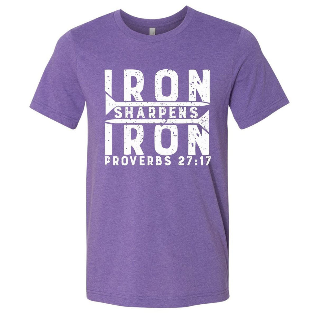 T-Shirts - Iron Sharpens Iron Christian Jersey T-Shirt