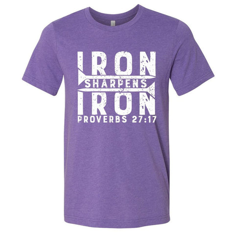 Image of T-Shirts - Iron Sharpens Iron Christian Jersey T-Shirt