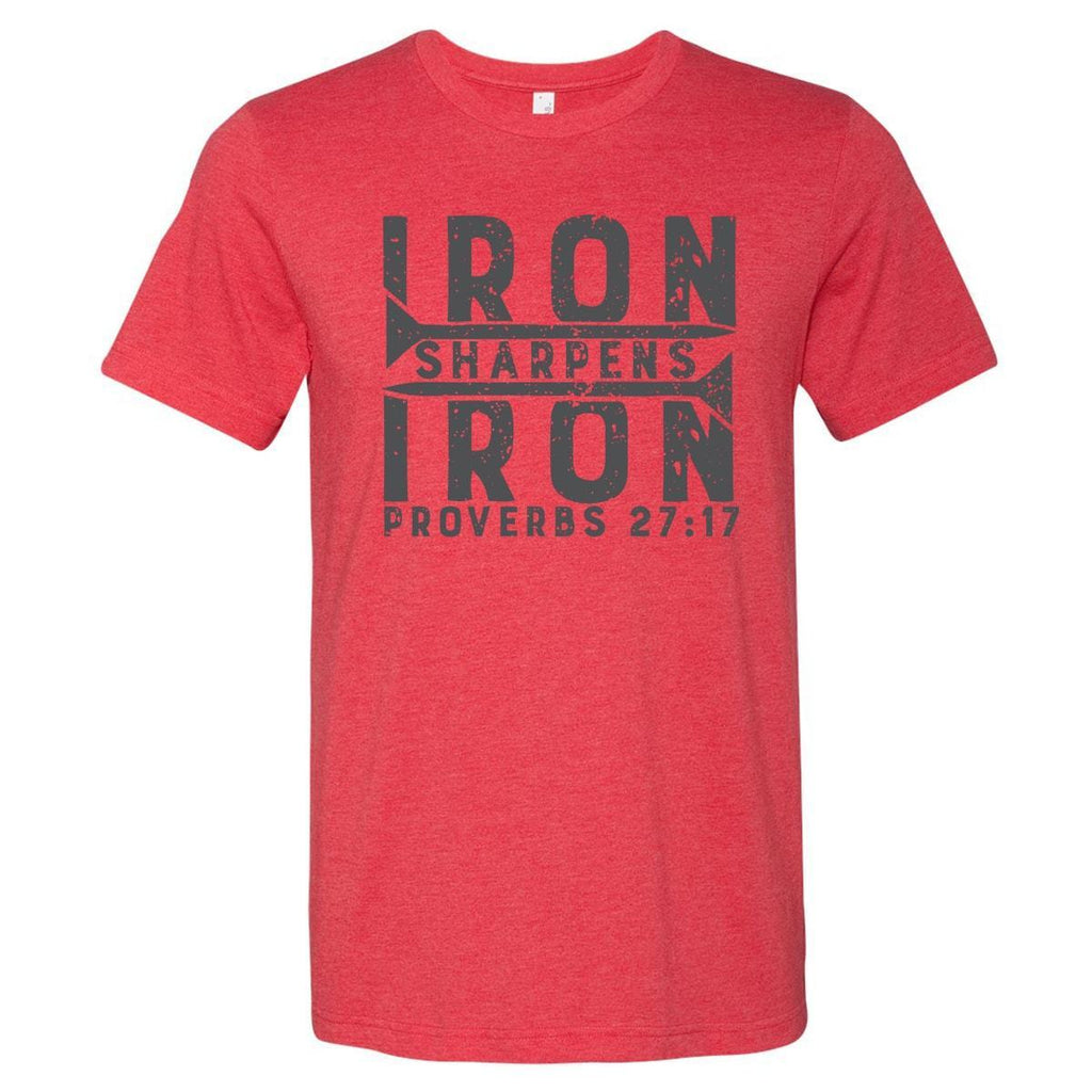 T-Shirts - Iron Sharpens Iron Christian T-Shirt
