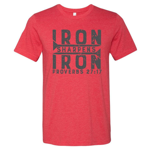 Image of T-Shirts - Iron Sharpens Iron Christian T-Shirt