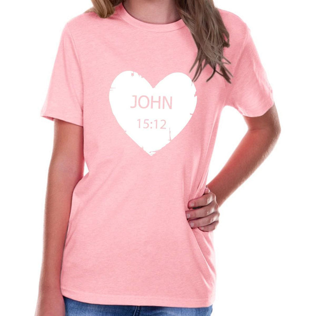T-Shirts - John 15:12 Youth Jersey Short Sleeve Christian T Shirt