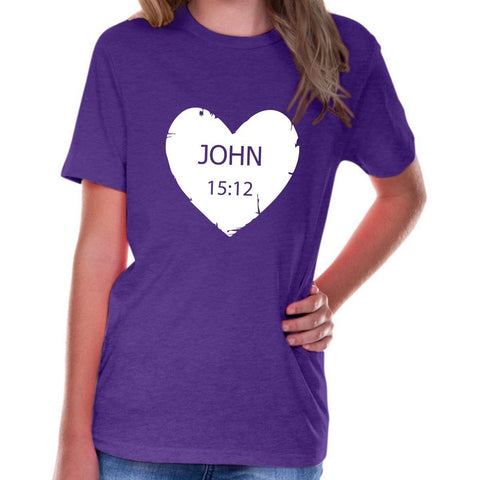 Image of T-Shirts - John 15:12 Youth Jersey Short Sleeve Christian T Shirt