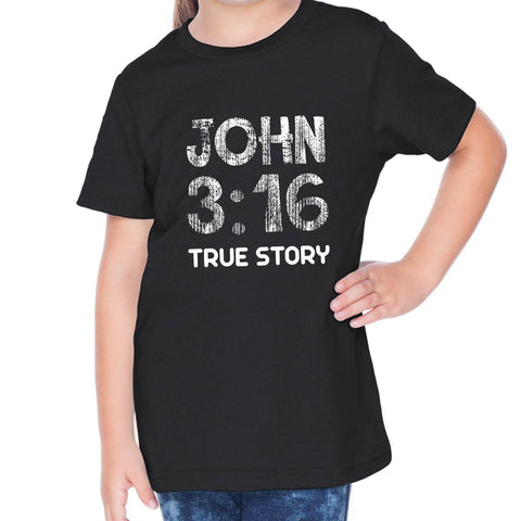 Image of T-Shirts - John 3:16 Toddler Christian Short Sleeve T Shirt