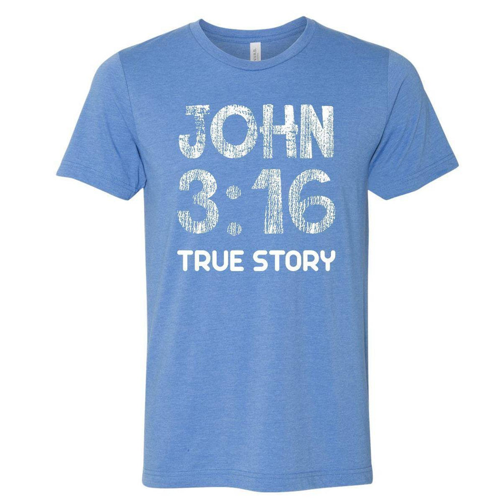 T-Shirts - John 3:16 True Story Christian Jersey T-Shirt