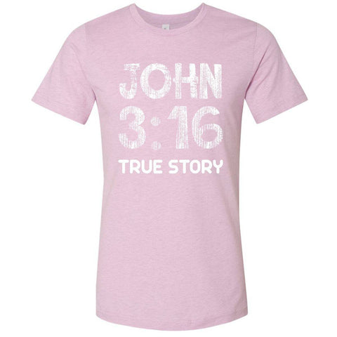 Image of T-Shirts - John 3:16 True Story Christian Jersey T-Shirt