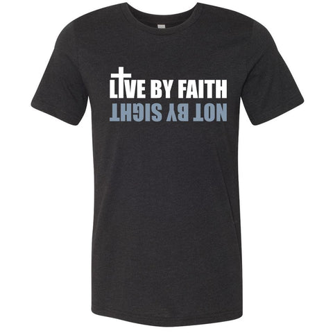 Image of T-Shirts - Live By Faith Christian Jersey T-Shirt