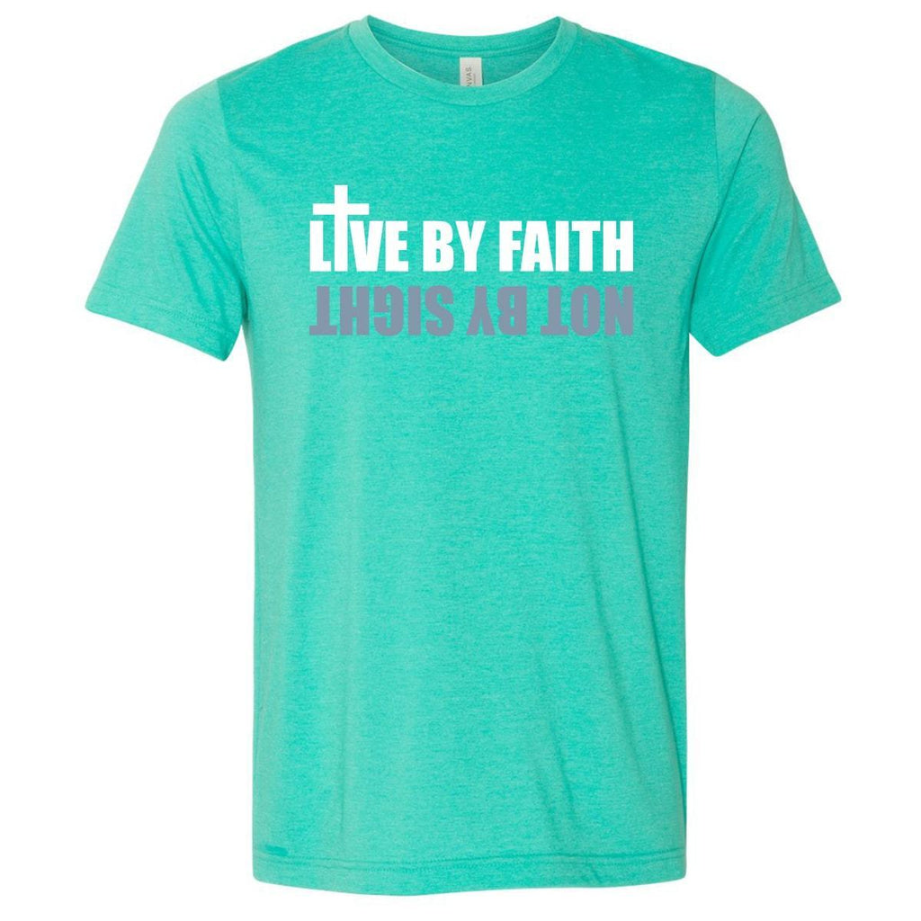 T-Shirts - Live By Faith Christian Jersey T-Shirt
