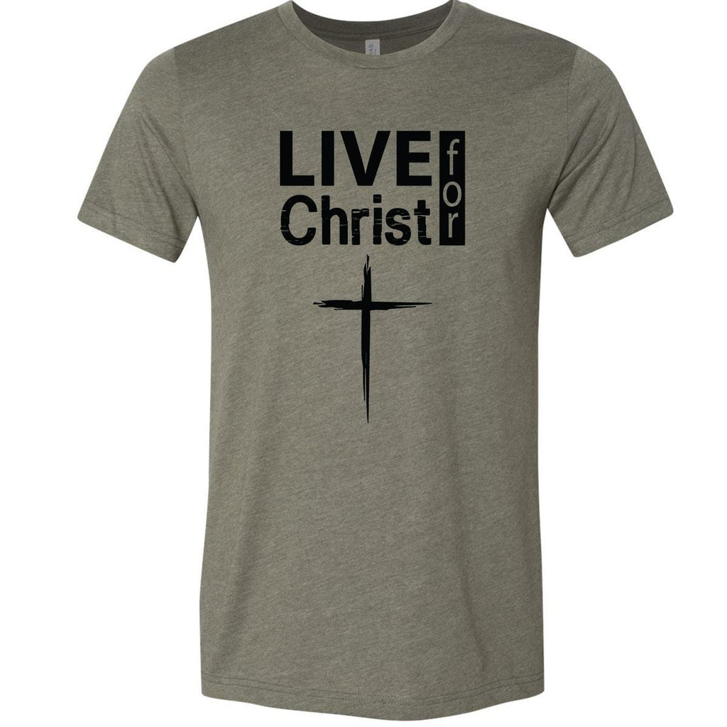 T-Shirts - Live For Christ Christian Jersey T-Shirt