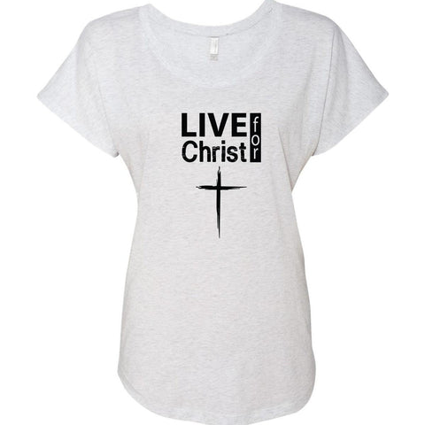Image of T-Shirts - Live For Christ Women's Christian Dolman T-Shirt