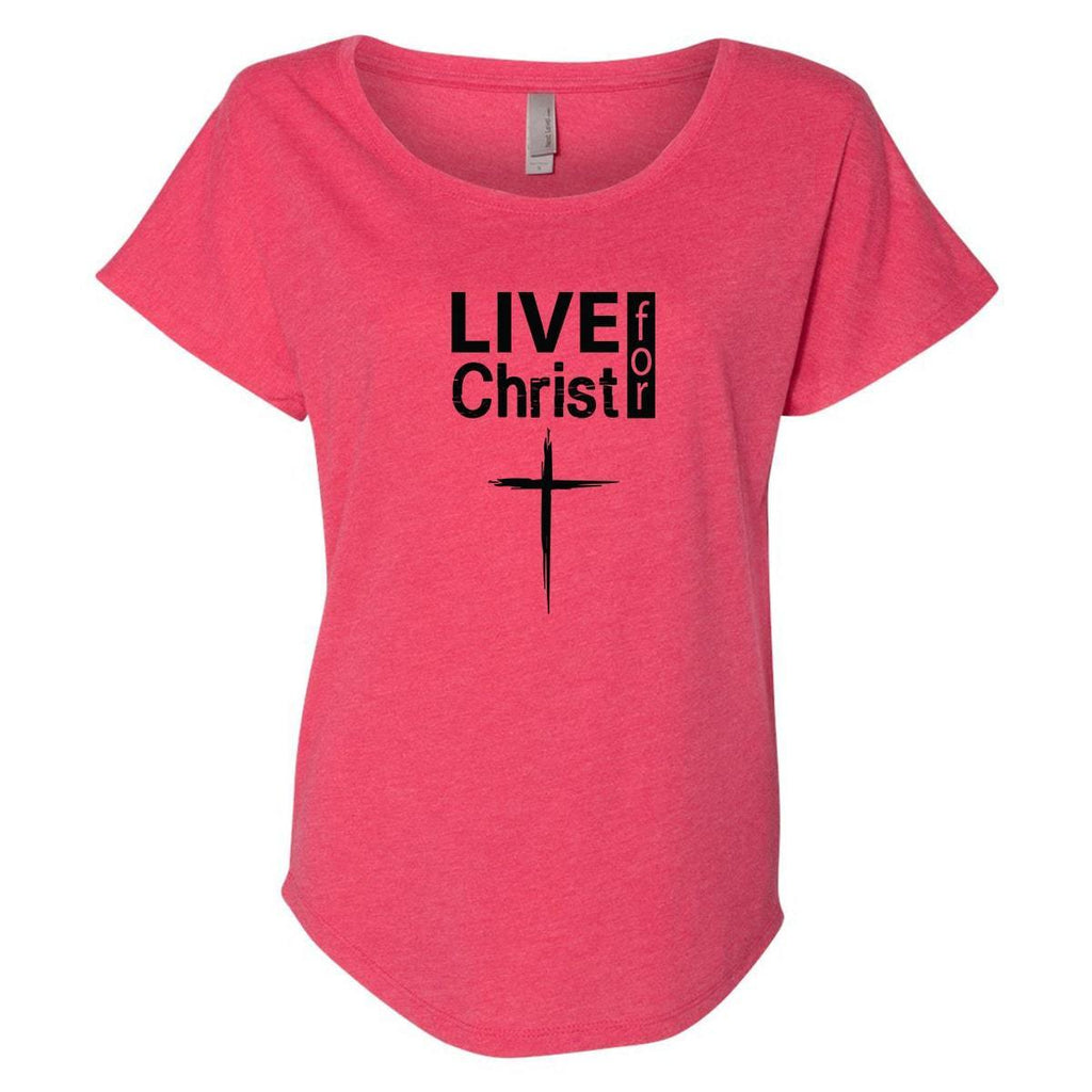 T-Shirts - Live For Christ Women's Christian Dolman T-Shirt