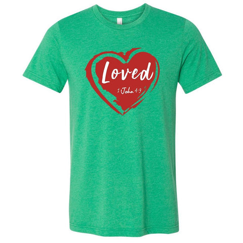 T-Shirts - Loved Christian Jersey T-Shirt