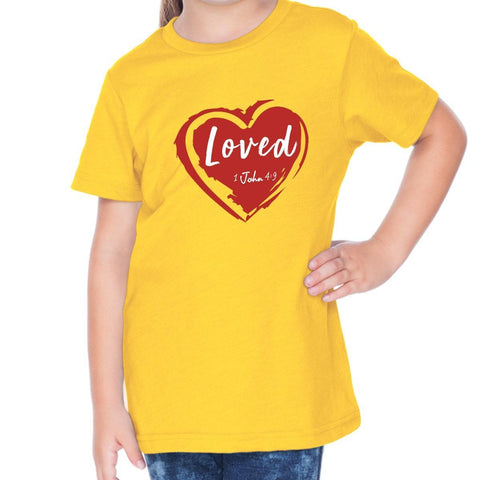 T-Shirts - Loved Toddler Christian Short Sleeve T Shirt