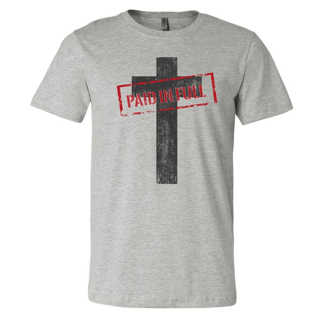 T-Shirts - Paid In Full Cross Christian Jersey T-Shirt