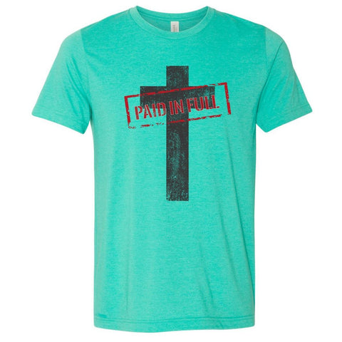 Image of T-Shirts - Paid In Full Cross Christian Jersey T-Shirt