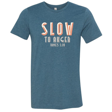 Image of T-Shirts - Slow To Anger Christian Jersey T-Shirt