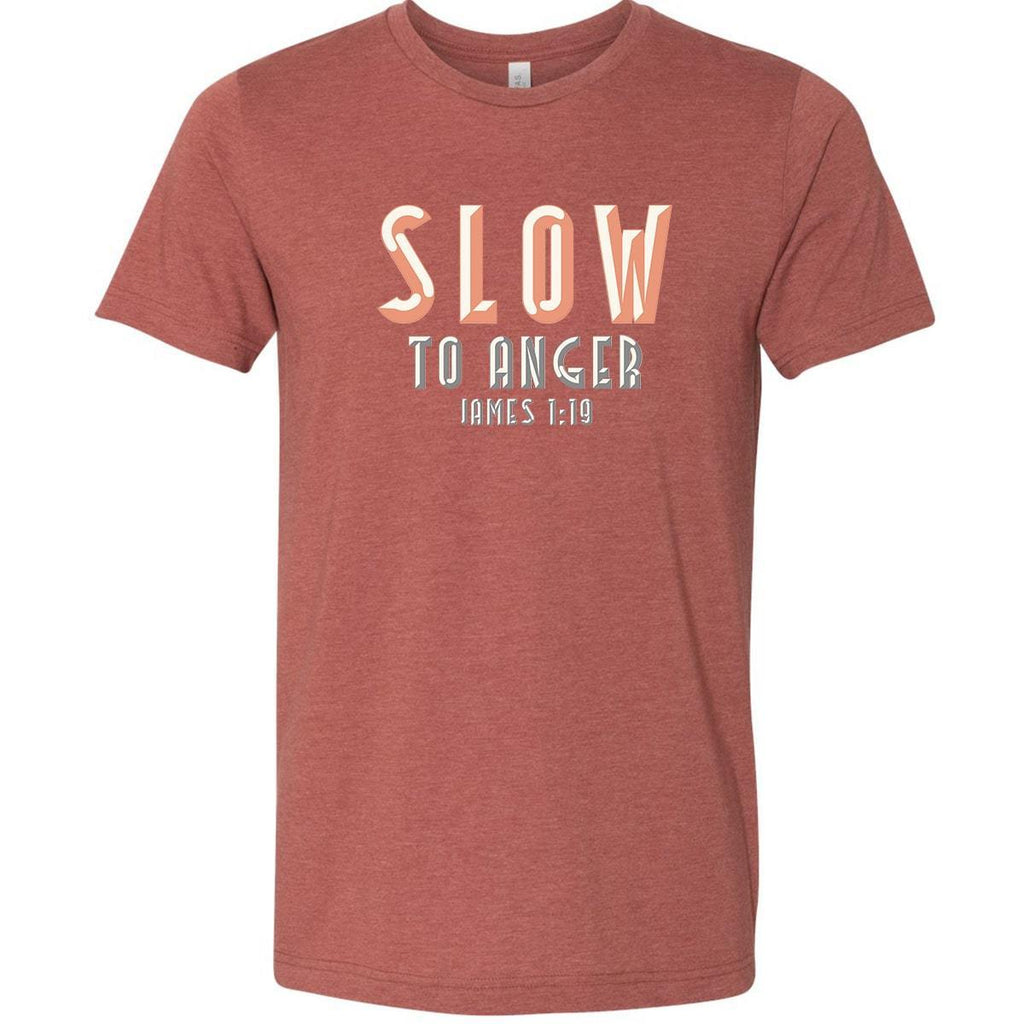 T-Shirts - Slow To Anger Christian Jersey T-Shirt
