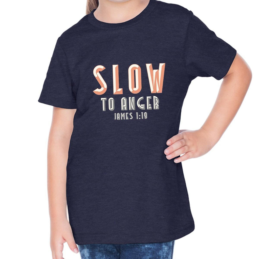 T-Shirts - Slow To Anger Toddler Christian Short Sleeve T Shirt