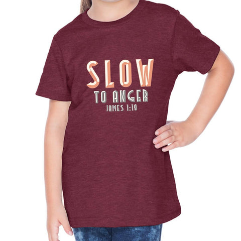 Image of T-Shirts - Slow To Anger Toddler Christian Short Sleeve T Shirt