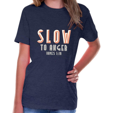 Image of T-Shirts - Slow To Anger Youth Jersey Short Sleeve Christian T Shirt